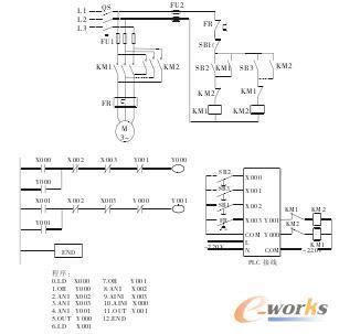 图2断电延时型星角降压启动能耗制动控制